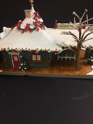 Hawthorne Coca Cola Holiday Village Train Station Christmas Lighted Building