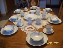 Mikasa Vintage Porcelain China Silver Maple Pattern 5600 Grouping 48 Pieces