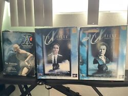 X-files Rare Scully And Mulder Busts + The Flukeman Figure And Scully/mulder Barbies