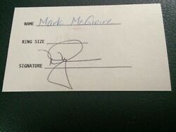 1999 Mark Mcgwire Signed All Star Ring Receipt Auto Mlb St. Louis Cardinals