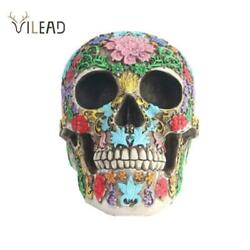 Colorful Skull Ornaments Halloween Party Figurines Home Decorations Medical Mode