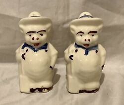 Vintage Salt And Pepper Shakers Pigs In Hats And Coats
