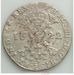 1622 Spanish Netherlands Brabant Philip Iv Patagon Clean Silver Trace Lustrous