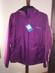 Nwt Columbia Womens Switchback Black Sherpa Lined Jacket Wild Iris Large L