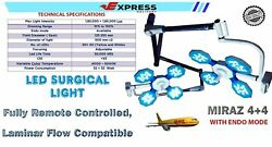 Double Satellite Miraz 4+4operation Theater Lights Led Surgical Operating Light