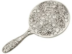 Chinese Export Silver Hand Mirror - Antique Circa 1900