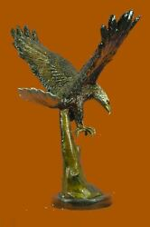 Life Size Special Patina American Bald Eagle American Air Force Trophy Bronze Nr