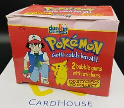 Pokemon Dunkin Sticker Cards Booster Box Official Nintendo 2000 25 Ct. Sealed