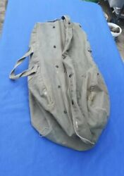 Vintage Military Style Large Zipper Duffel Tactical Deployment Flight And Sea Bag