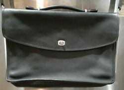 Coach Lexington 5265 Briefcase Crossbody Messenger Leather Black $70.00