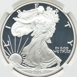 2004-w 1 Silver Eagle Proof Ngc Pr70ucam Frosty Devices And Deep Dark Mirrors