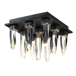 Et2 E31249-20bk Quartz 9-light 17.75 Wide Black Flush Mount Light