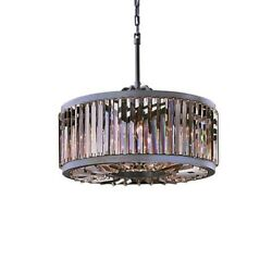 Gatsby Luminaires 700142-006 8 Light Silver Shade Grey Crystal Chandelier In