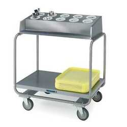Lakeside 403 Stainless Steel Tray N Silver Cart Holds 120 16x22 Trays