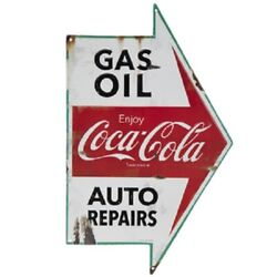 Vintage Style Coca Cola Gas Station Signs Man Cave Garage Decor Oil Can 1