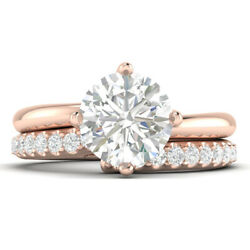 1.48ct D-si1 Diamond Twist Engagement Ring 18k Rose Gold Any Size