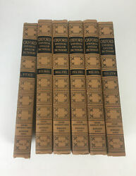 Lot Of 6 Oxford 1937 Universal English Dictionary, Volumes 4 5 6 7 8 And 10