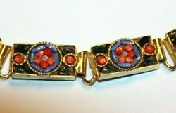Lovely 11/32 Inch Unsigned Vintage Mosaic Bracelet With Amazing Stones High End