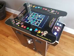 Retro Video Arcade Cocktail Table, 412 Games, Led Buttons And Joystick