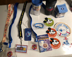 Lot Of 15 Disney Cruise Line Lanyards,magnets,watch,vinylmation,member Id