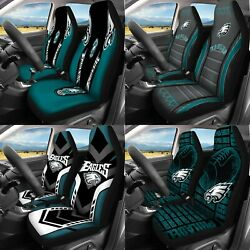 Set Of Two Philadelphia Eagles Car Seat Covers Universal Fit Auto Seat Protector