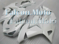 Glossy White Abs Complete Injection Fairing Fit For Ninja Zx14 2006-2011 Wbu