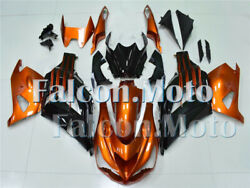 Orange Black Complete Injection Fairing Fit For Kawasaki Zx14r 2012-2017 Abs Aao