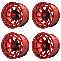 4x Xd Series 20x9 Xd860 Onslaught Wheels Candy Red 5x5 / 5x127 +0mm 5.00bs