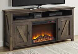 Farmington Electric Fireplace For Tvs Up To 60 Rustic Tv Console