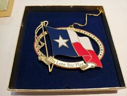 1998 Texas State Capitol Ornament In Original Box, Missing Card Insert