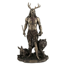 Herne The Spirit Hunter Of Windsor Forest Standing With Deer And Wolf Figure