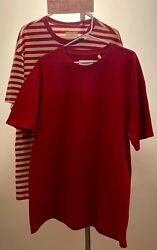 Set Of 2 - Fear Of God Red Lovers Box Cut Tees Jerry Lorenzo Pacsun Fog Sz M