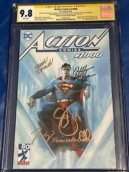 Action Comics 1000 Cgc 9.8 Ss 7x Jim Lee Dell'otto, Snyder, King, Mann, +2