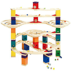 Hape Quadrilla Wooden Marble Run Construction The Challenger Smart Play Toy