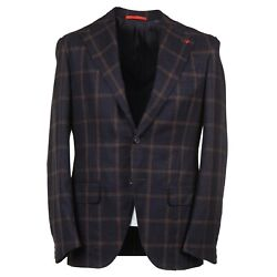 Isaia 'marechiaro' Extra-soft Brushed Flannel Wool Suit 36r Eu 46 Nwt