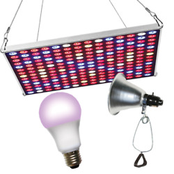 Miracle Led 602238 Led Grow Panel And Clamp On Led Red And Blue Spectrum Grow Light