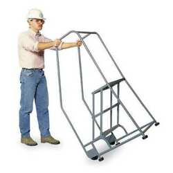 Cotterman 2ts26a1e10b8p6 50 In H Stainless Steel Tilt And Roll Ladder 2 Steps