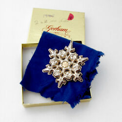 Gorham 1984 Christmas Snowflake Ornament Sterling Silver Gold Filled
