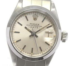 Rolex Oyster Perpetual 6916 Date Cal.2030 Silver Dial Automatic Ladies _601411