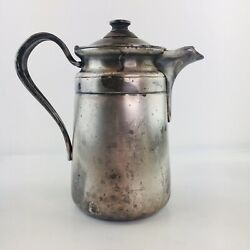 """Vintage Primitive Reed And Barton Silver Soldered Pitcher 4004 7"""" Farmhouse"""