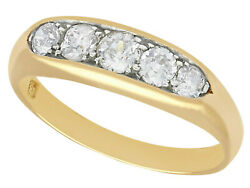Vintage 0.80 Ct Diamond And 18k Yellow Gold Dress Ring