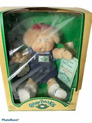 Cabbage Patch Kids 3900 Doll 1983 Freckles Blue Eyes In Box Birth Certificate