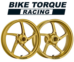 O.z. Piega Gold Superlight Alloy Wheels To Fit Yamaha Xjr1300 01-02