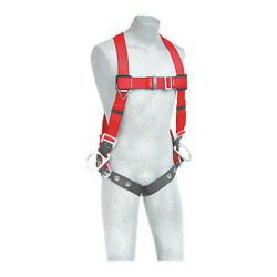 3m Protecta 1191385 Full Body Harness, Vest Style, Universal, Polyester, Red