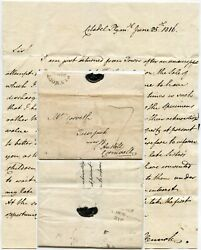1816 Letter From Richard Hennah Fossils Plymouth St Austell Re Collection