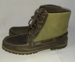 Sperry Top-sider New Carson Brown Green Mens Shoes Size 12 M Boots