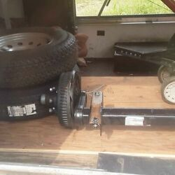 Trailer Axle With Wheels