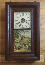 Antique Wm. L. Gilbert Pendulum Eight Day Thirty Hour Wall Clock Co. Winsted Ct