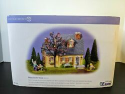 Department 56 Snow Village Easter -happy Easter House Complete Ex Cond. 55090