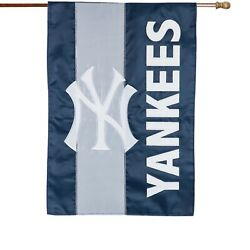 New York Yankees 28x44 House Banner - Embroidered, Sewn Sculpted Applique Flag